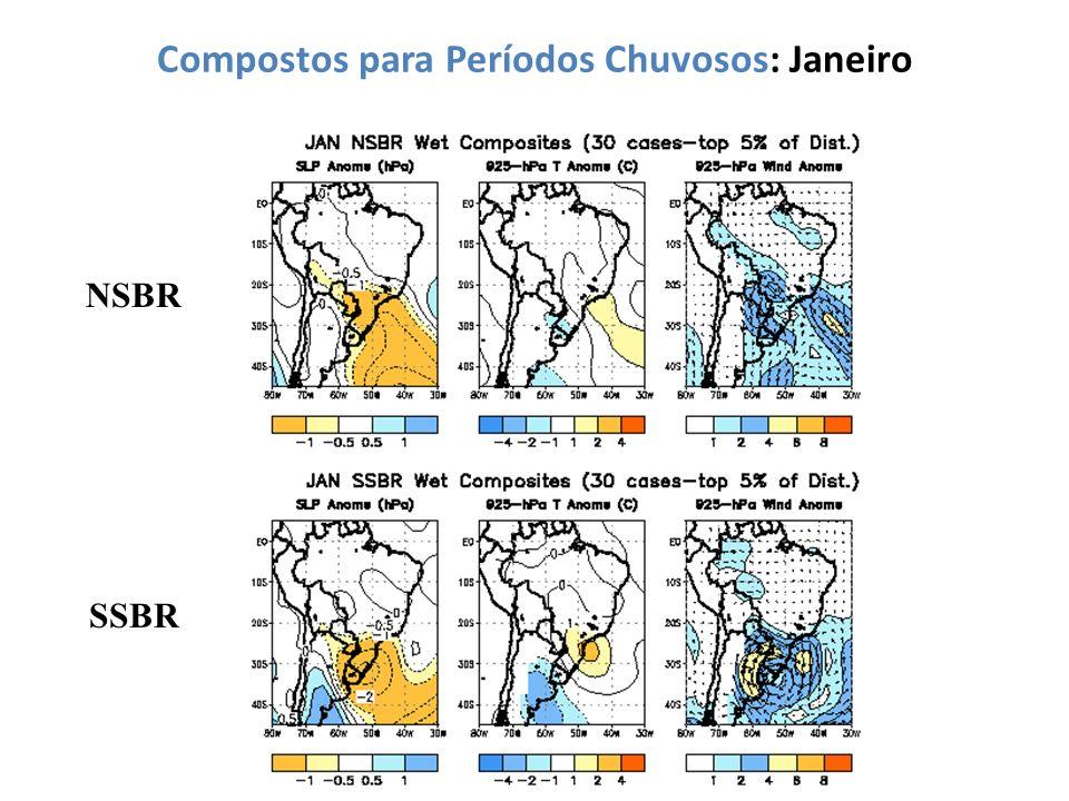 Compostos para Períodos Chuvosos: Janeiro NSBR SSBR
