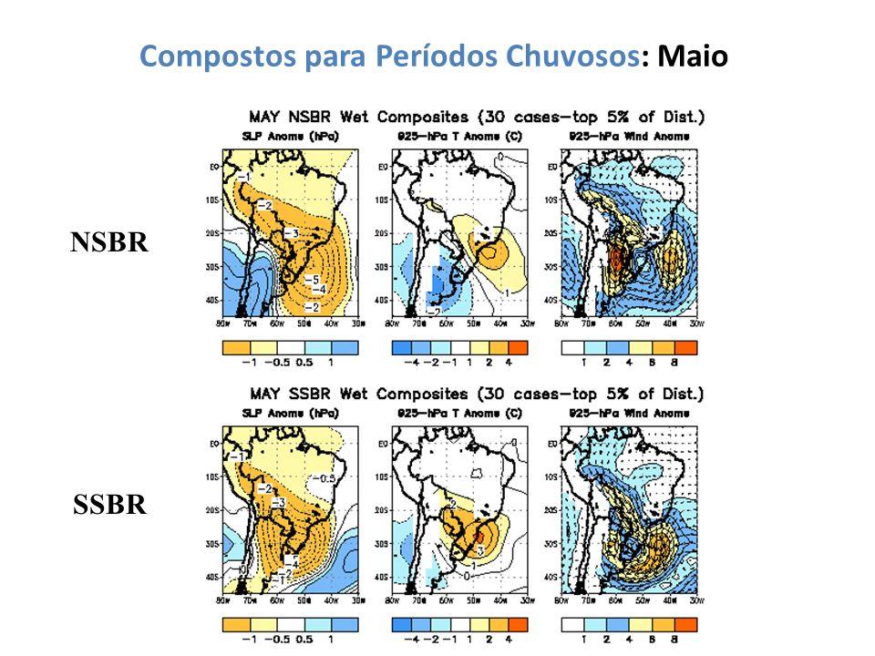 Compostos para Períodos Chuvosos: Maio NSBR SSBR