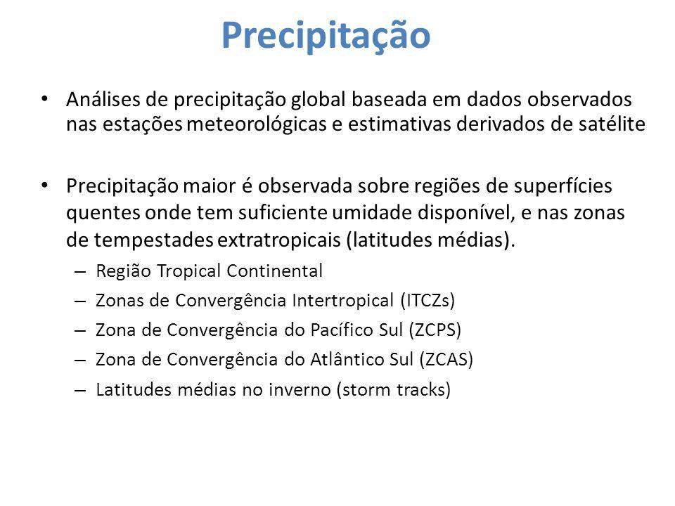 Precipitação Análises de precipitação global baseada em dados observados nas estações meteorológicas e estimativas derivados de satélite Precipitação