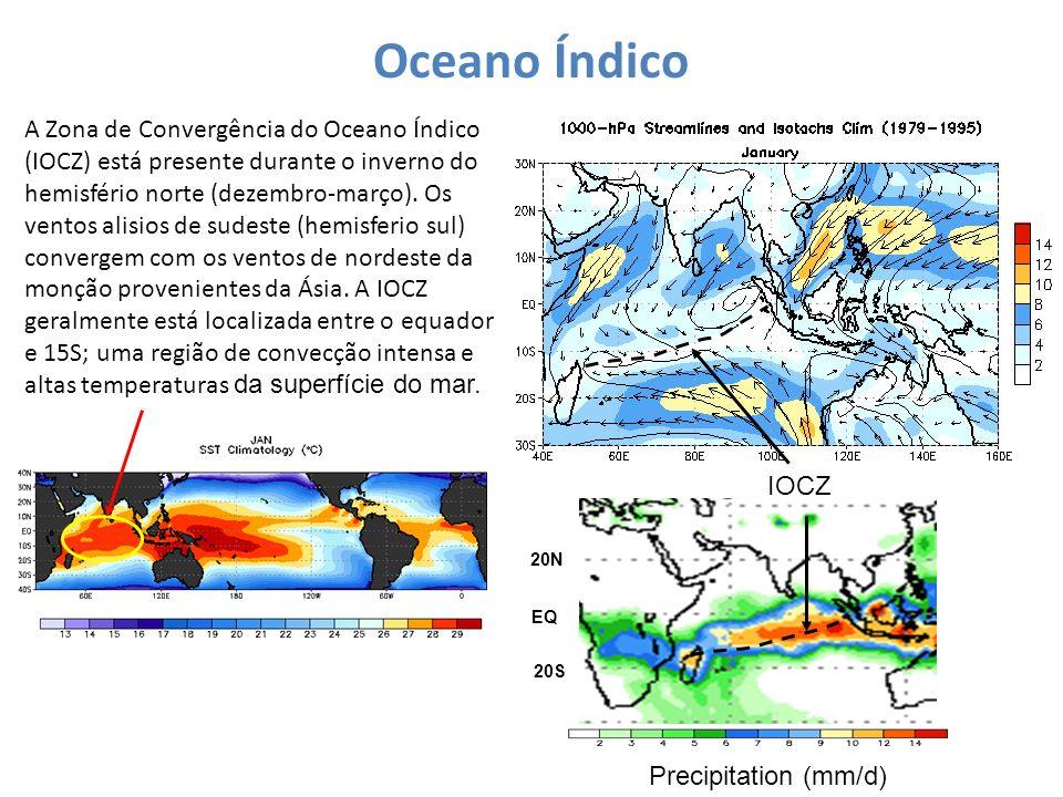 Oceano Índico IOCZ A Zona de Convergência do Oceano Índico (IOCZ) está presente durante o inverno do hemisfério norte (dezembro-março). Os ventos alis