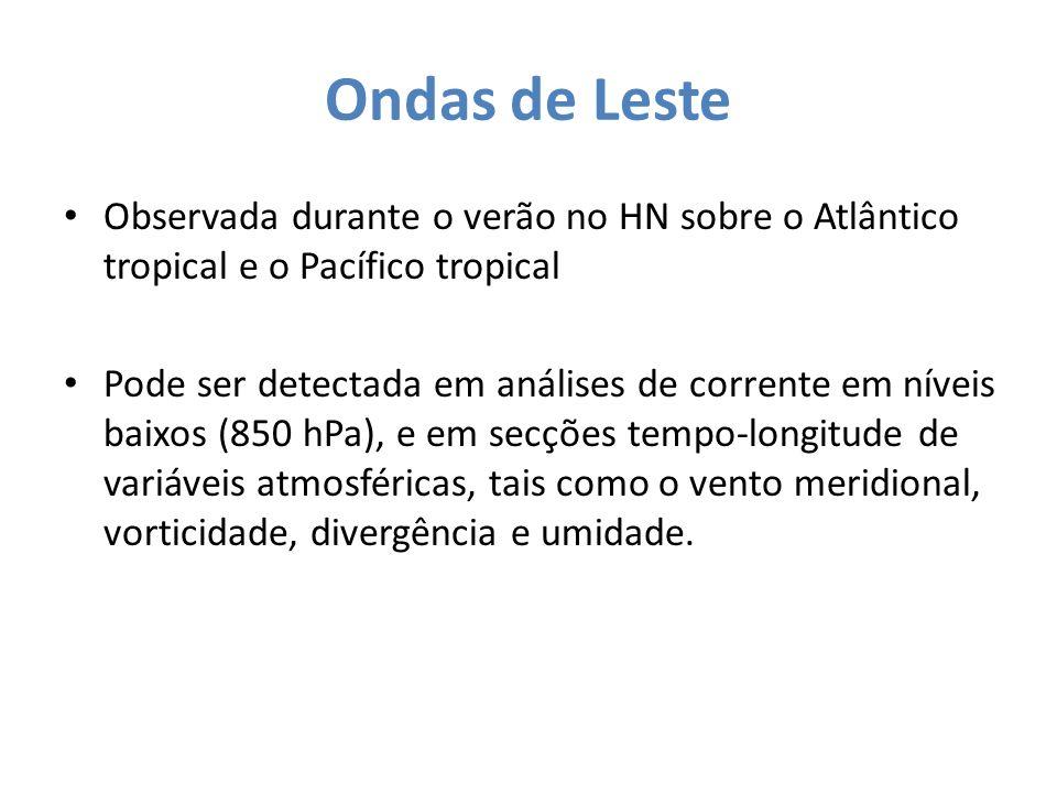 Ondas de Leste Observada durante o verão no HN sobre o Atlântico tropical e o Pacífico tropical Pode ser detectada em análises de corrente em níveis b