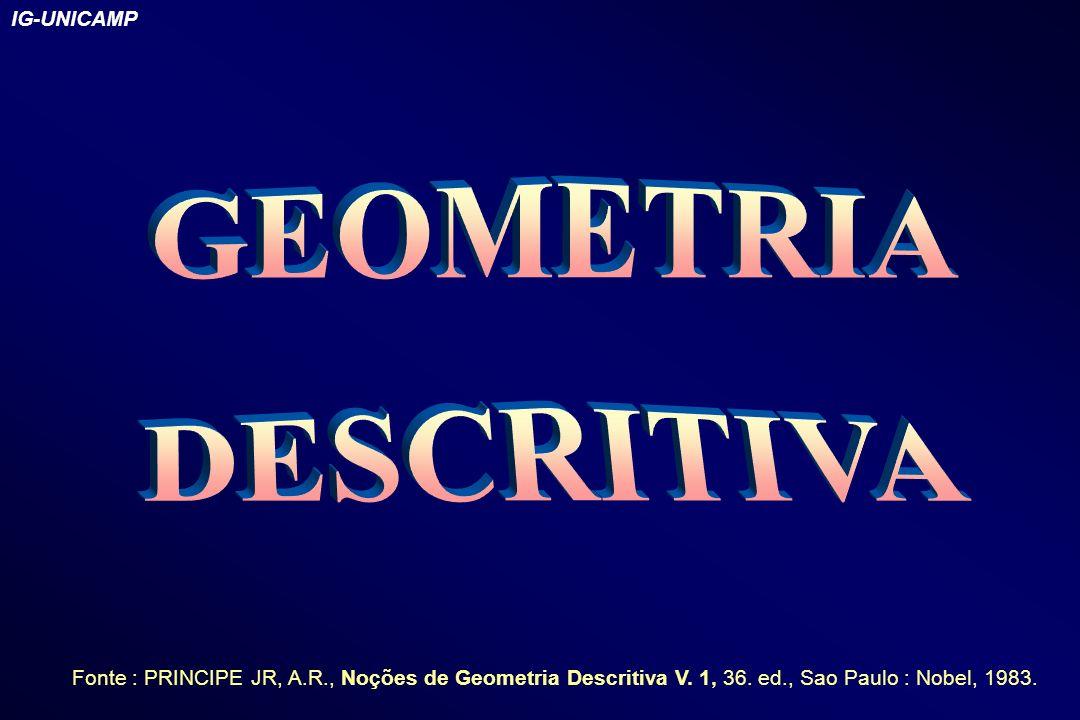 IG-UNICAMP Fonte : PRINCIPE JR, A.R., Noções de Geometria Descritiva V. 1, 36. ed., Sao Paulo : Nobel, 1983.