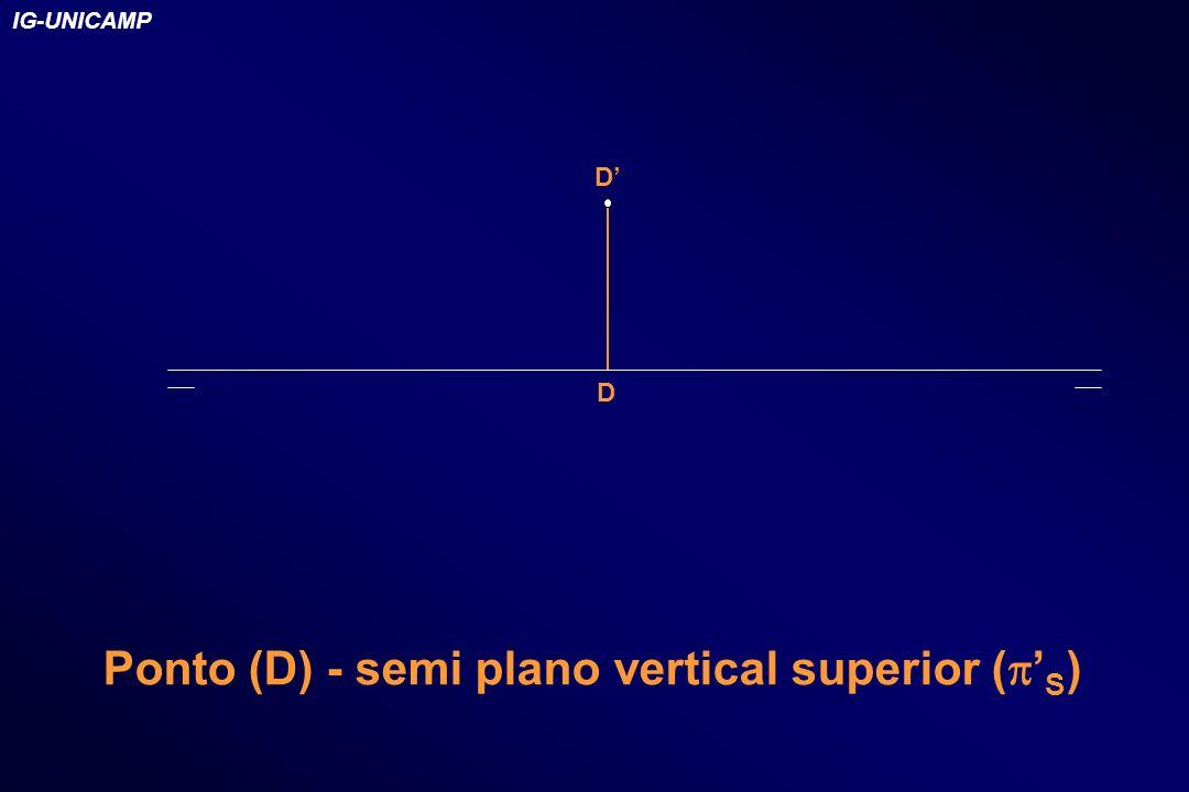 D D Ponto (D) - semi plano vertical superior ( S ) IG-UNICAMP
