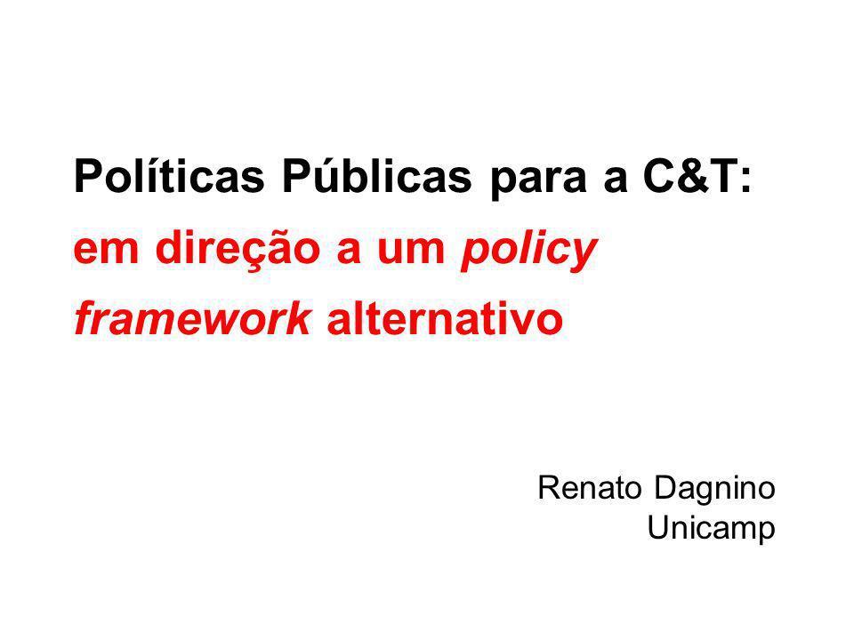 MR13 Um diálogo necessário: A política científica e tecnológica, a inovação e as ciências sociais