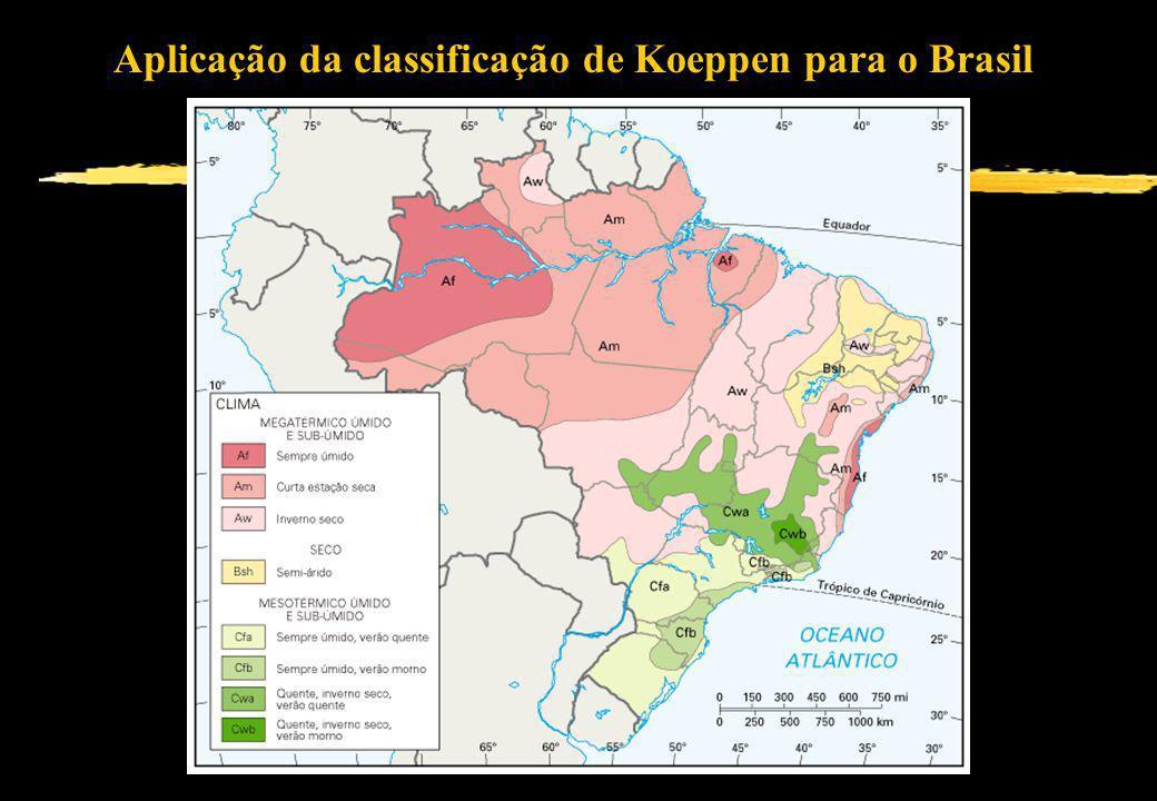 Aplicação da classificação de Koeppen para o Brasil