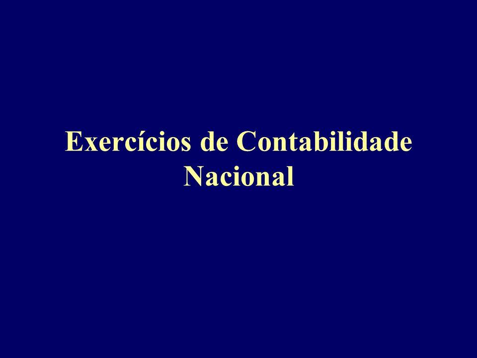 Exercícios de Contabilidade Nacional