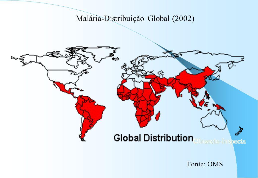Malária-Distribuição Global (2002) Fonte: OMS