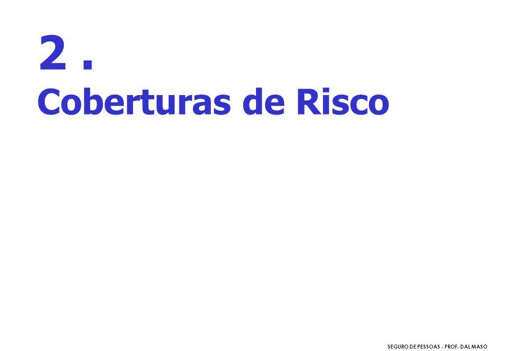 SEGURO DE PESSOAS - PROF. DAL MASO 2. Coberturas de Risco