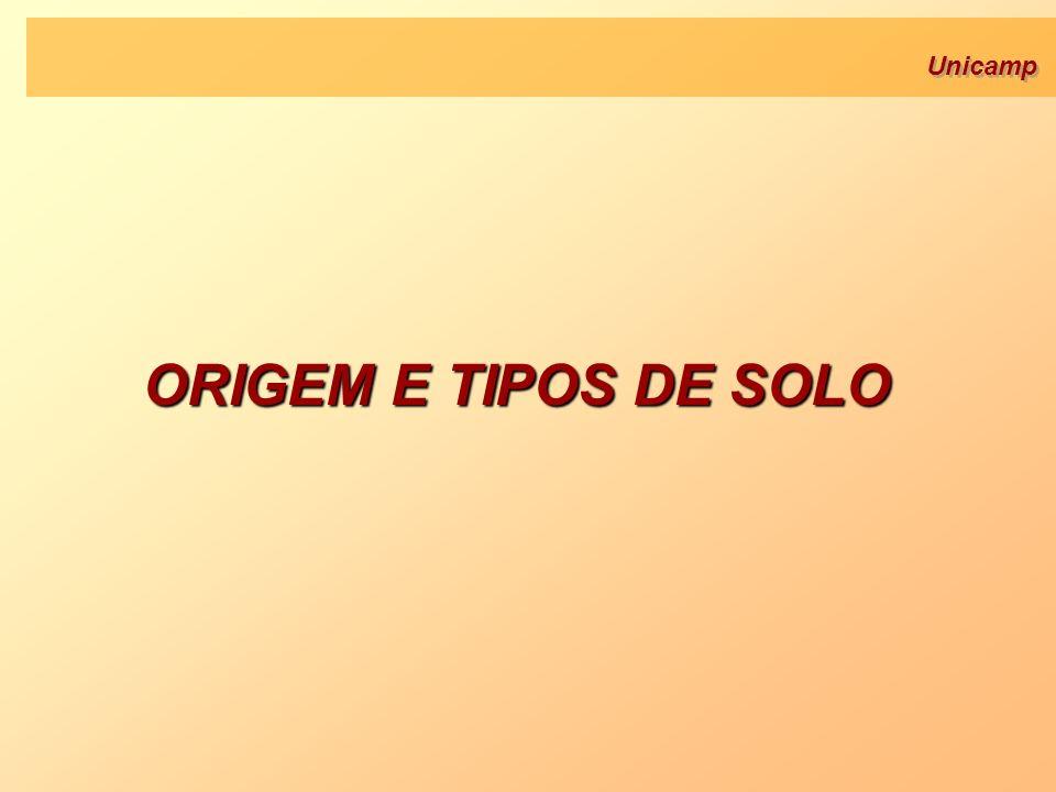 Unicamp ORIGEM E TIPOS DE SOLO