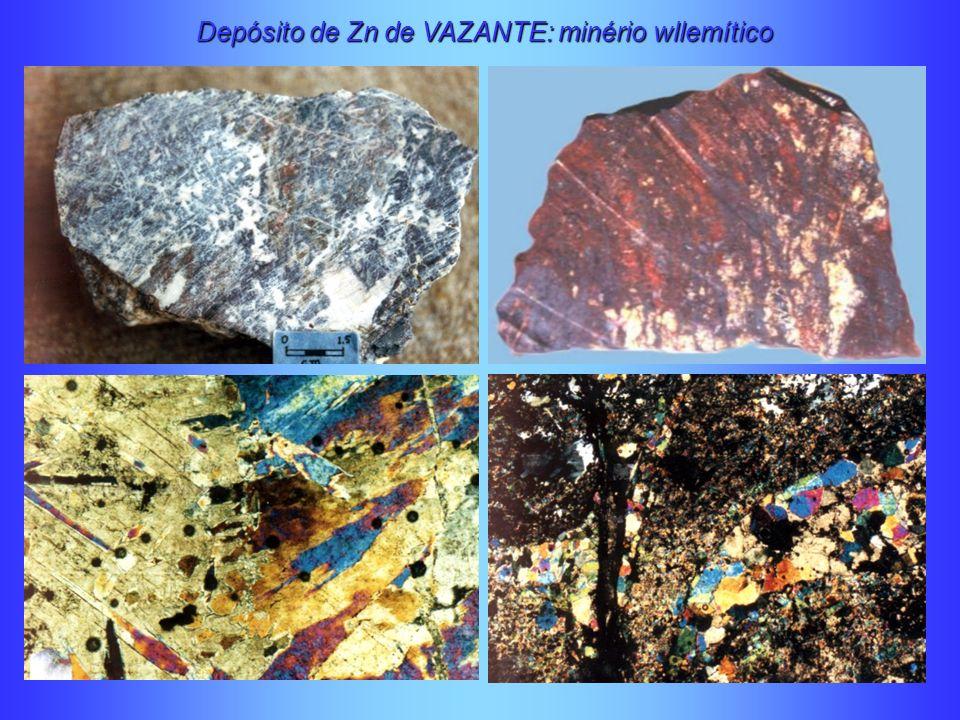 Depósito de Zn de VAZANTE: minério wllemítico