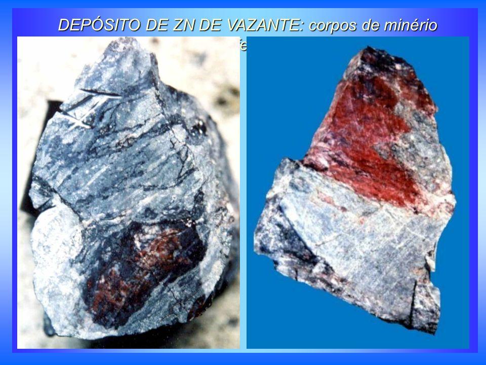 DEPÓSITO DE ZN DE VAZANTE: corpos de minério sulfetado