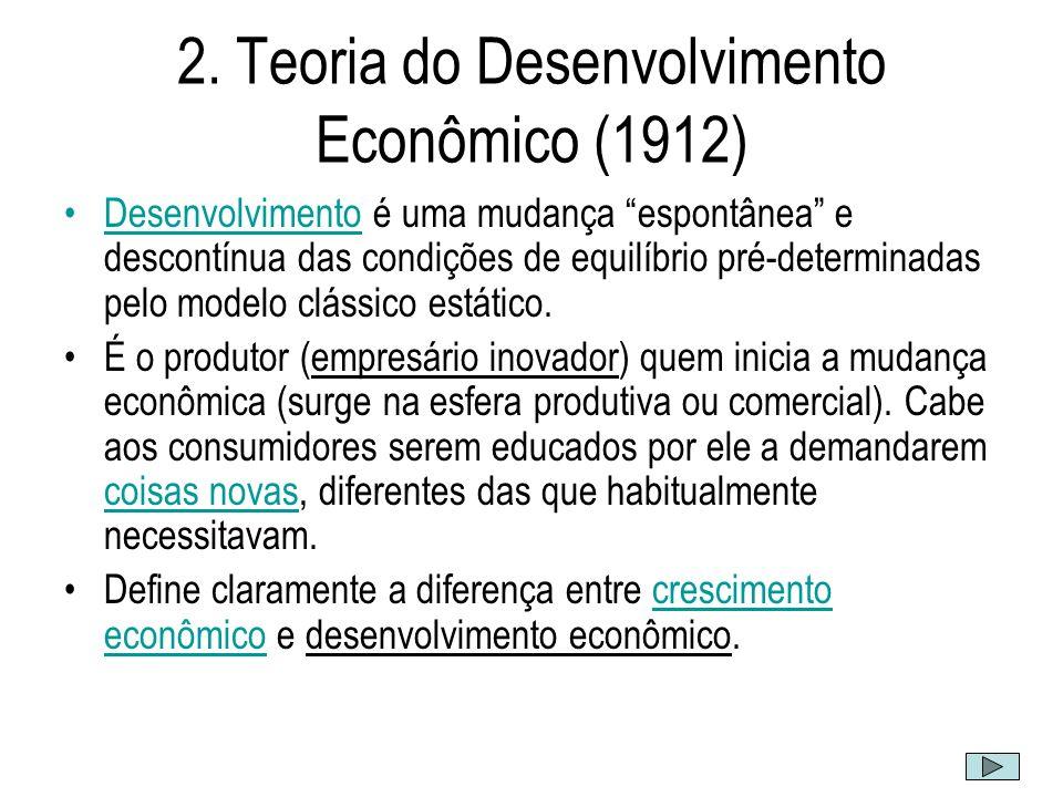 (...) a análise estática não pode explicar a ocorrência de tais revoluções produtivas nem os fenômenos que as acompanham.