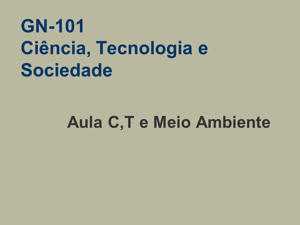 GN-101 Ciência, Tecnologia e Sociedade Aula C,T e Meio Ambiente