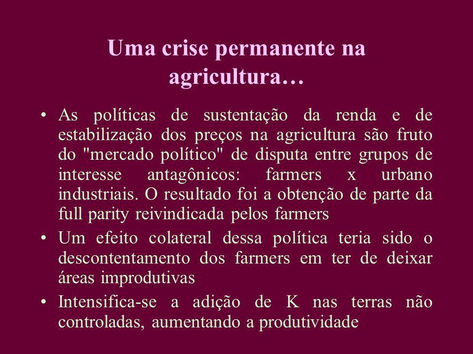 Uma crise permanente na agricultura… As políticas de sustentação da renda e de estabilização dos preços na agricultura são fruto do