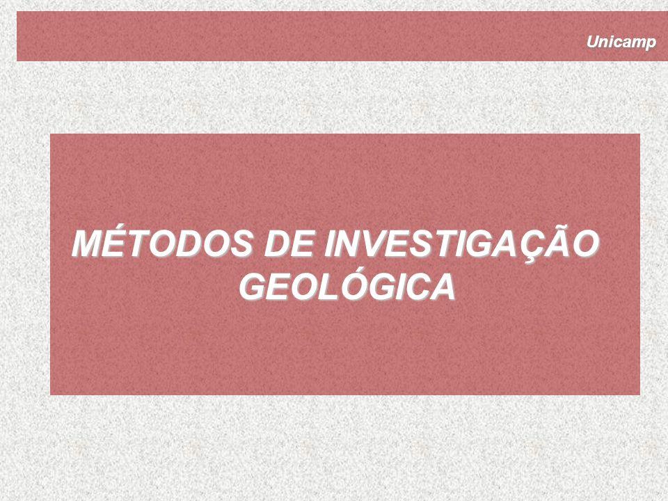 Unicamp MÉTODOS DE INVESTIGAÇÃO GEOLÓGICA