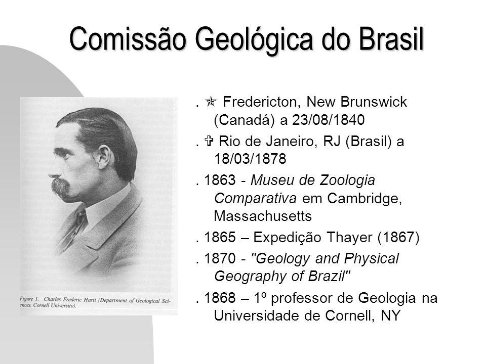 Comissão Geológica do Brasil. Fredericton, New Brunswick (Canadá) a 23/08/1840. Rio de Janeiro, RJ (Brasil) a 18/03/1878. 1863 - Museu de Zoologia Com
