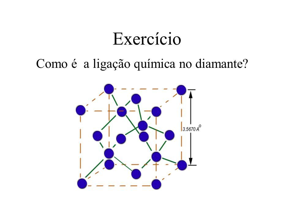 Exercício Como é a ligação química no diamante?
