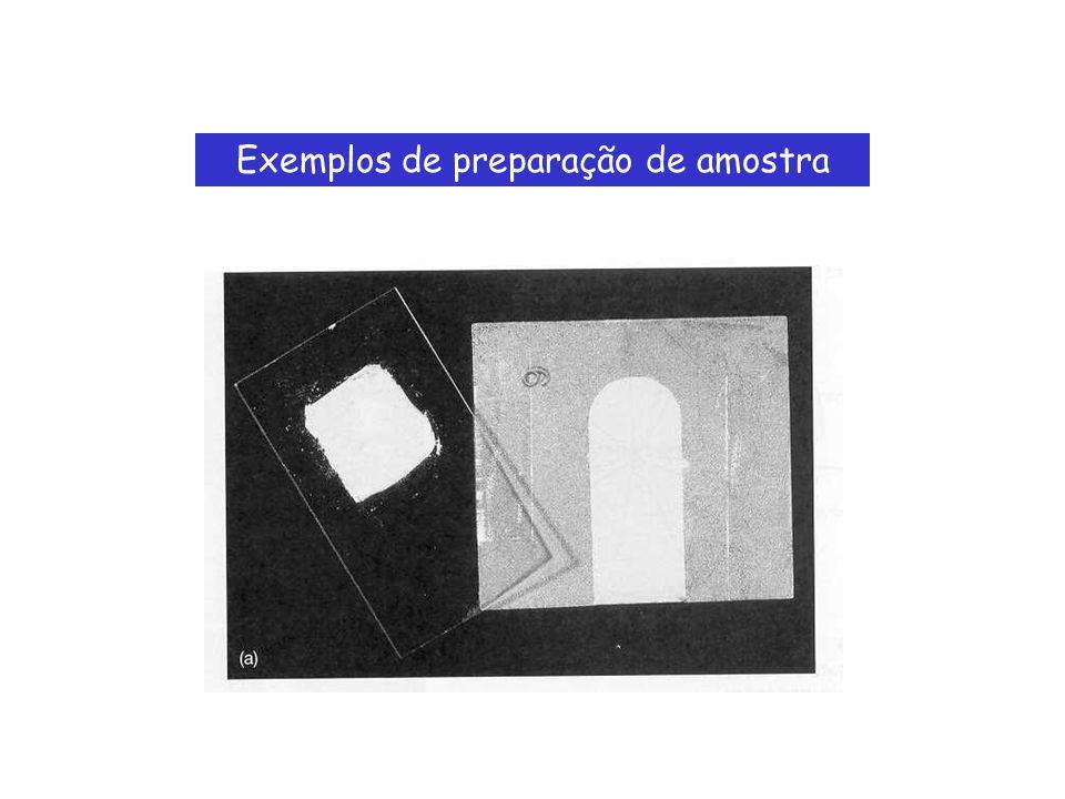 Exemplos de preparação de amostra