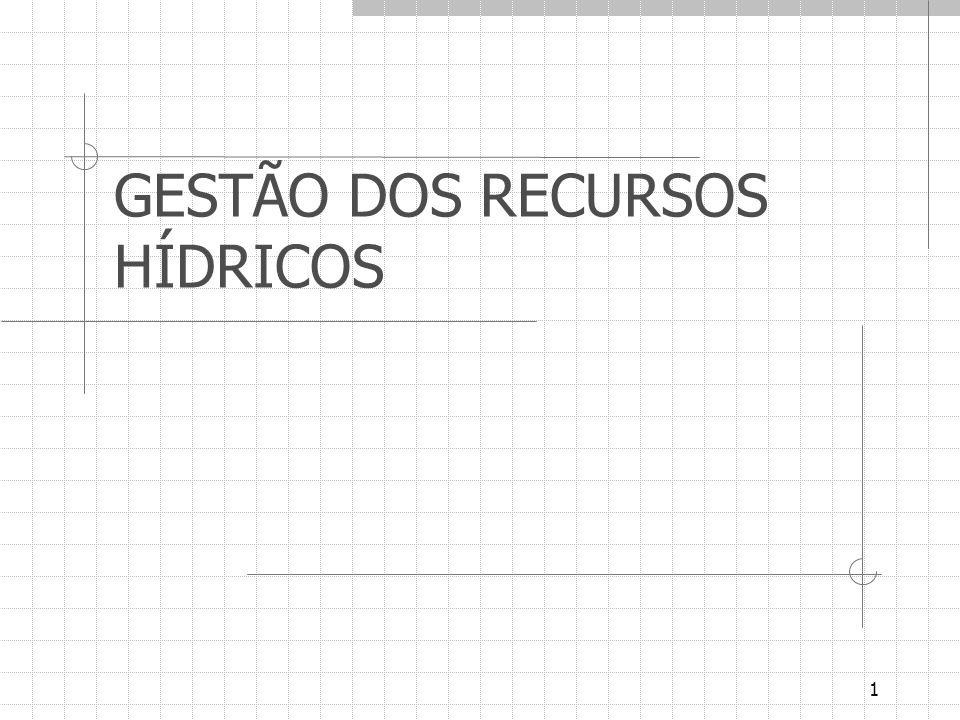 1 GESTÃO DOS RECURSOS HÍDRICOS