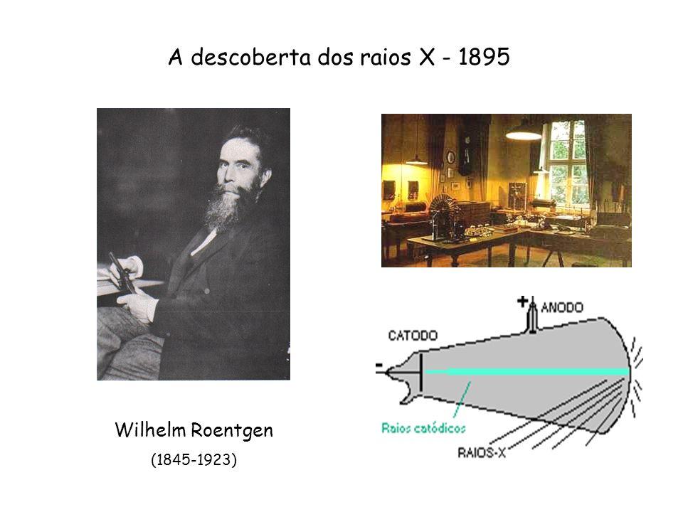 Primeiras radiografias Radiografia da mão de Bertha, esposa de Roentgen (22/12/1895) Rifle de Roentgen