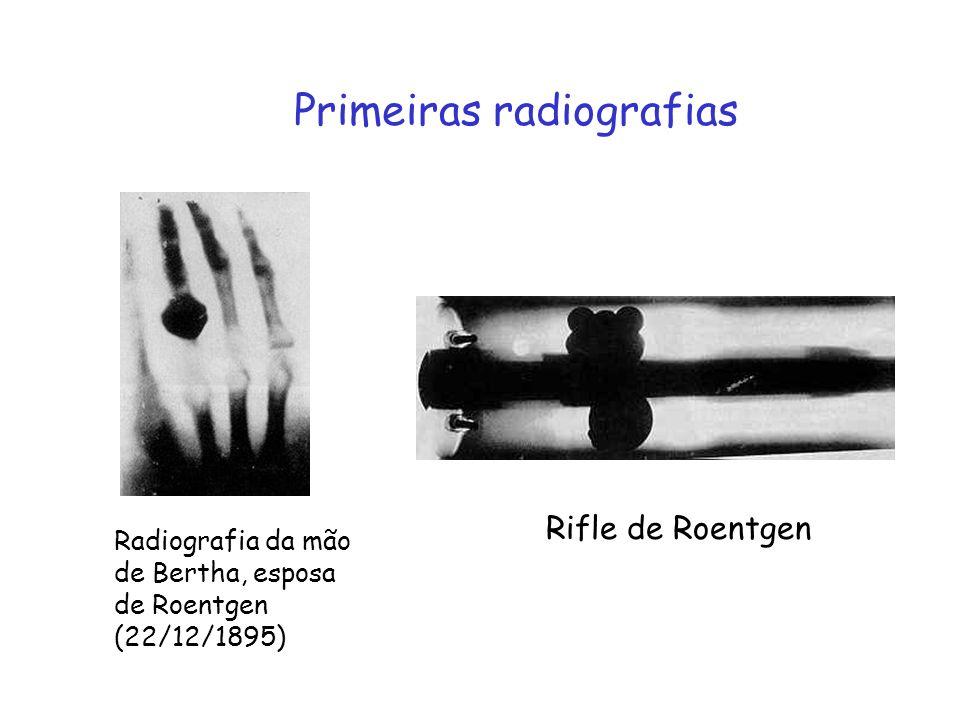 Raios X raios catódicos Não são afetados por campos elétricos e magnéticos.