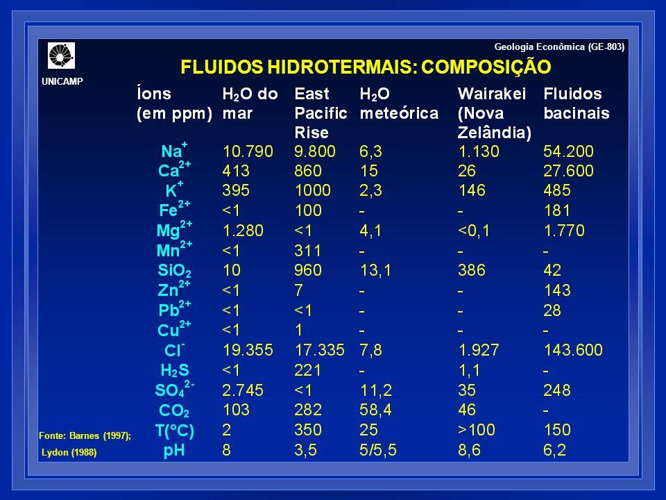 FLUIDOS BACINAIS Geologia Econômica (GE-803) UNICAMP