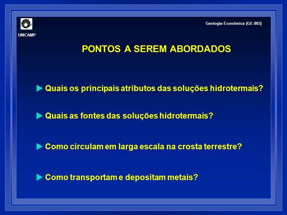 FLUIDO HIDROTERMAL: ASPECTOS HISTÓRICOS Início do sec.