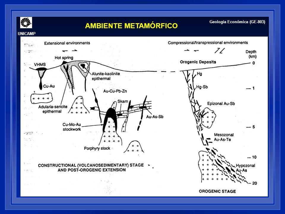 ALTERAÇÃO HIDROTERMAL UNICAMP Geologia Econômica (GE-803)