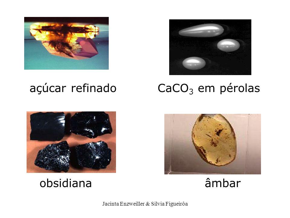 Jacinta Enzweiller & Silvia Figueirôa açúcar refinado CaCO 3 em pérolas obsidiana âmbar