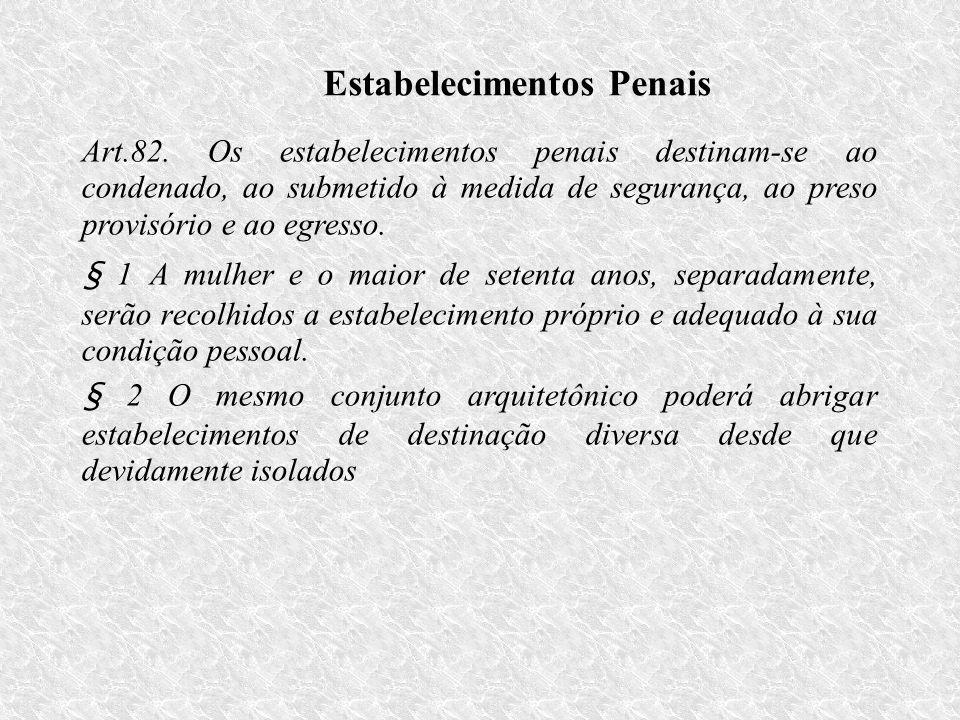 Estabelecimentos Penais Art.82.