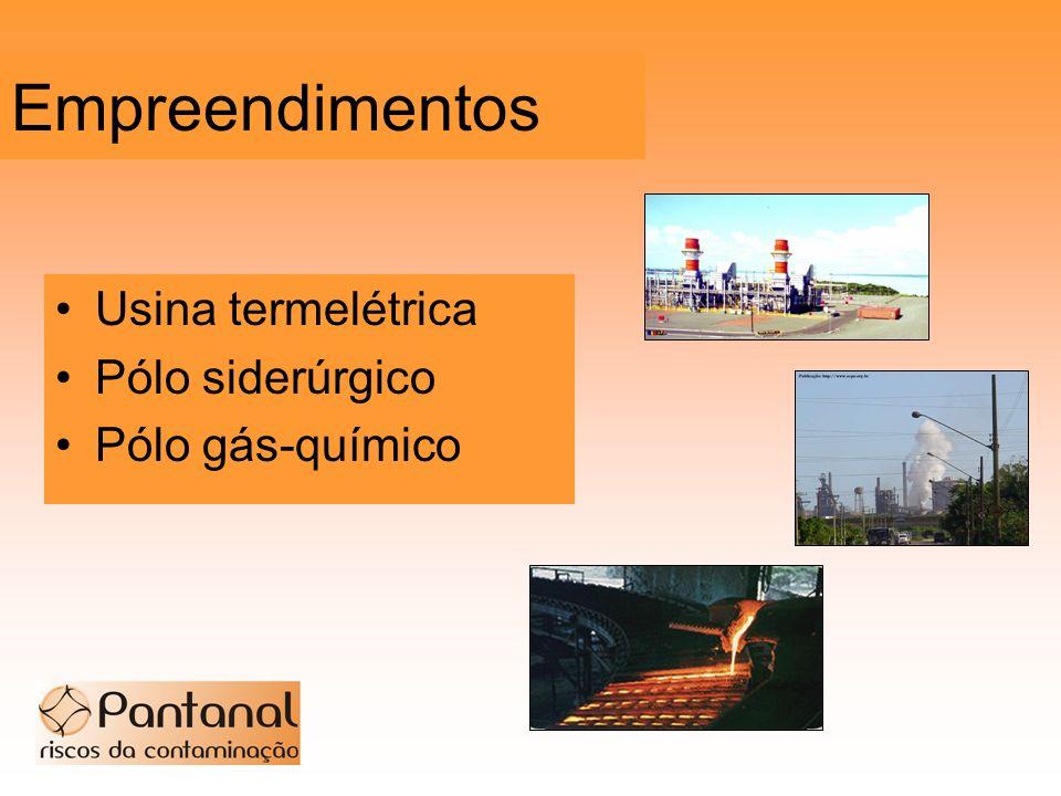 Empreendimentos Usina termelétrica Pólo siderúrgico Pólo gás-químico