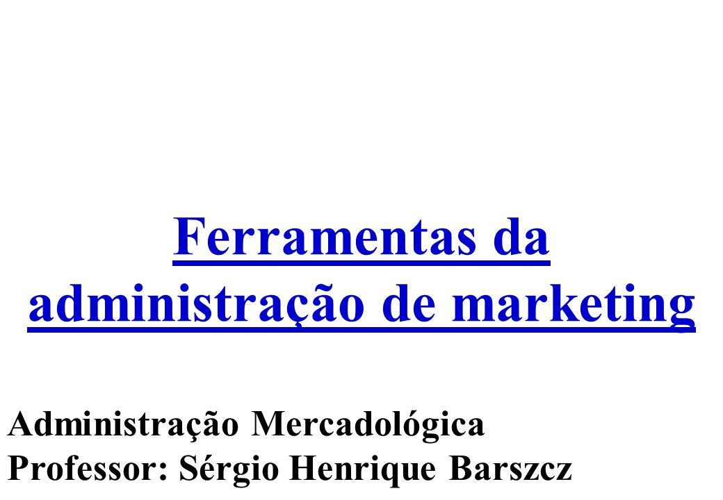 Ferramentas da administração de marketing Administração Mercadológica Professor: Sérgio Henrique Barszcz