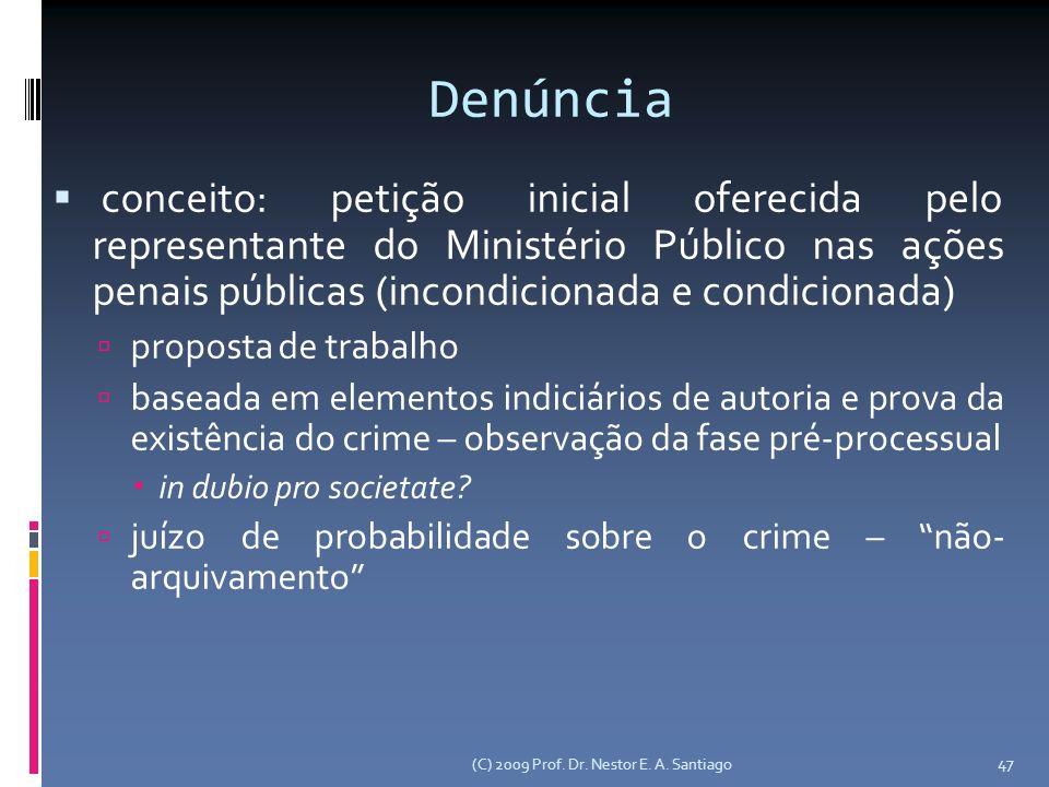 47 Denúncia conceito: petição inicial oferecida pelo representante do Ministério Público nas ações penais públicas (incondicionada e condicionada) pro