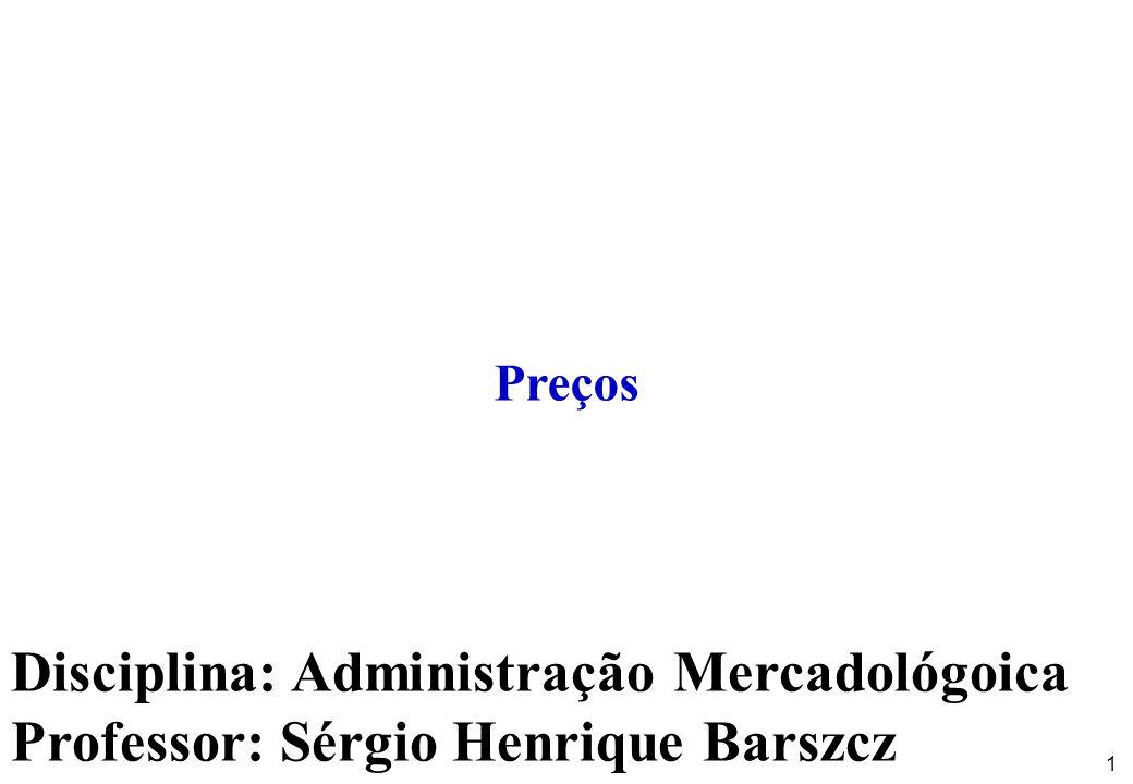 12 Administração Mercadológica - PreçosProf.