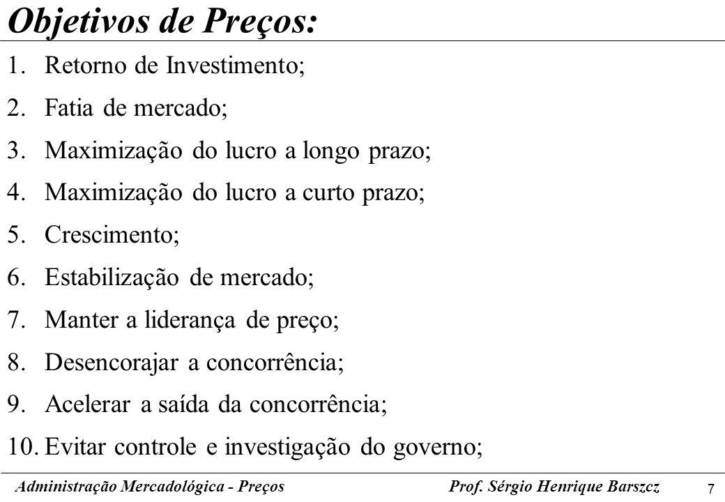 8 Administração Mercadológica - PreçosProf.
