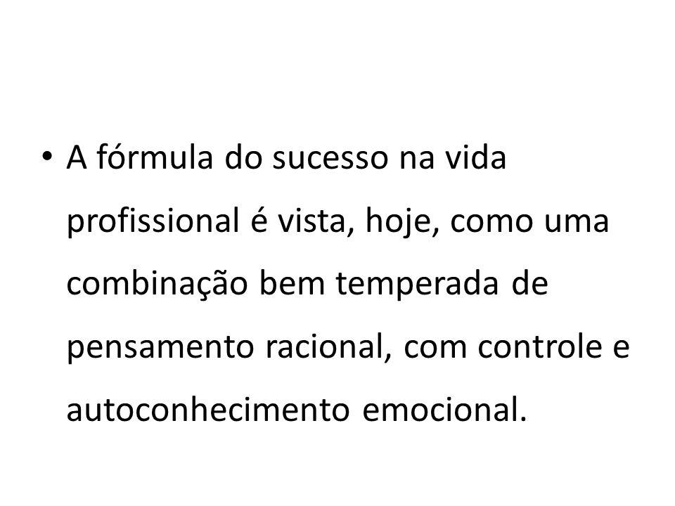 A fórmula do sucesso na vida profissional é vista, hoje, como uma combinação bem temperada de pensamento racional, com controle e autoconhecimento emo