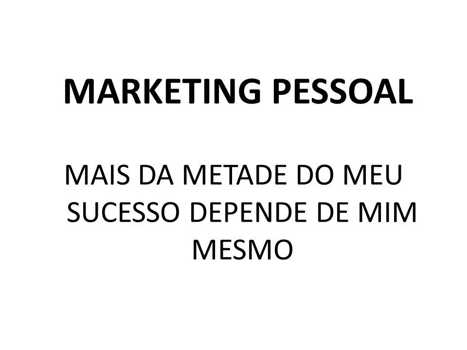 MARKETING PESSOAL MAIS DA METADE DO MEU SUCESSO DEPENDE DE MIM MESMO
