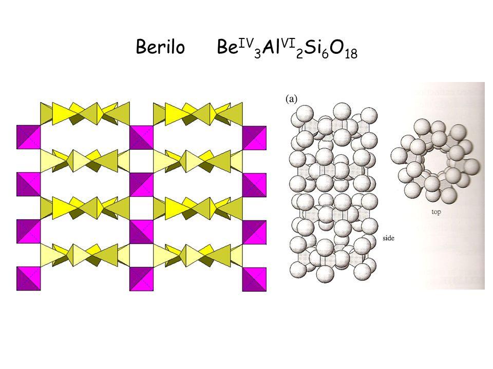 Berilo Be IV 3 Al VI 2 Si 6 O 18