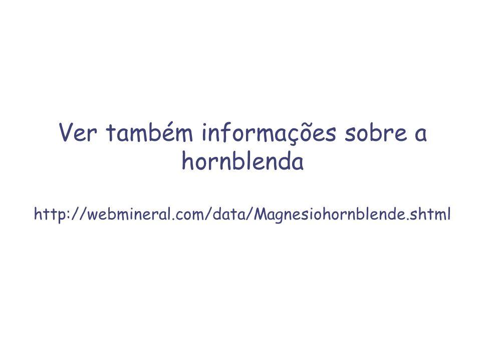Ver também informações sobre a hornblenda http://webmineral.com/data/Magnesiohornblende.shtml