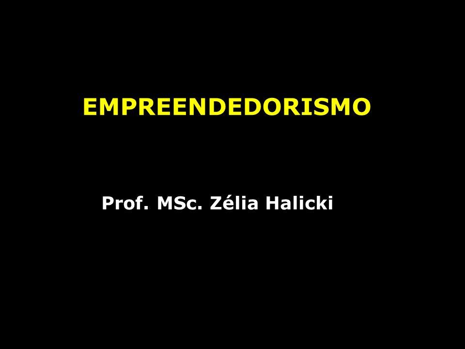 EMPREENDEDORISMO Prof. MSc. Zélia Halicki