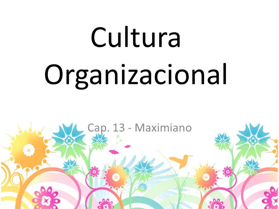 Cultura Organizacional Cap. 13 - Maximiano