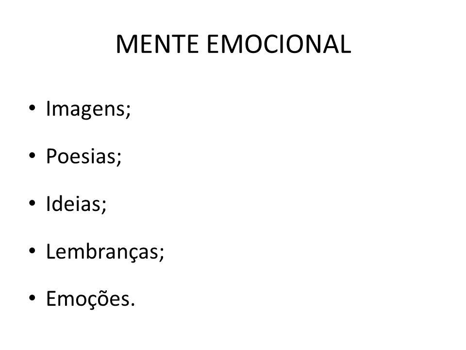Mente emocional – um conjunto psíquico denominado mente emocional determinante para entender expressões humanas como: Personalidade; caráter; Temperamento; Condutas; decisões,e ideias.