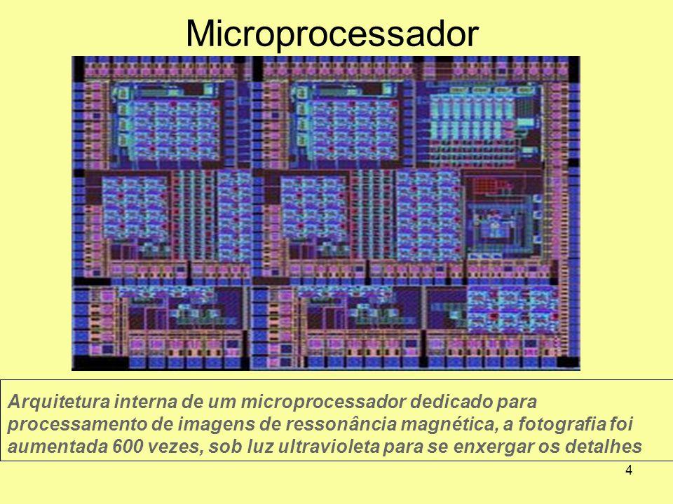 4 Microprocessador Arquitetura interna de um microprocessador dedicado para processamento de imagens de ressonância magnética, a fotografia foi aument