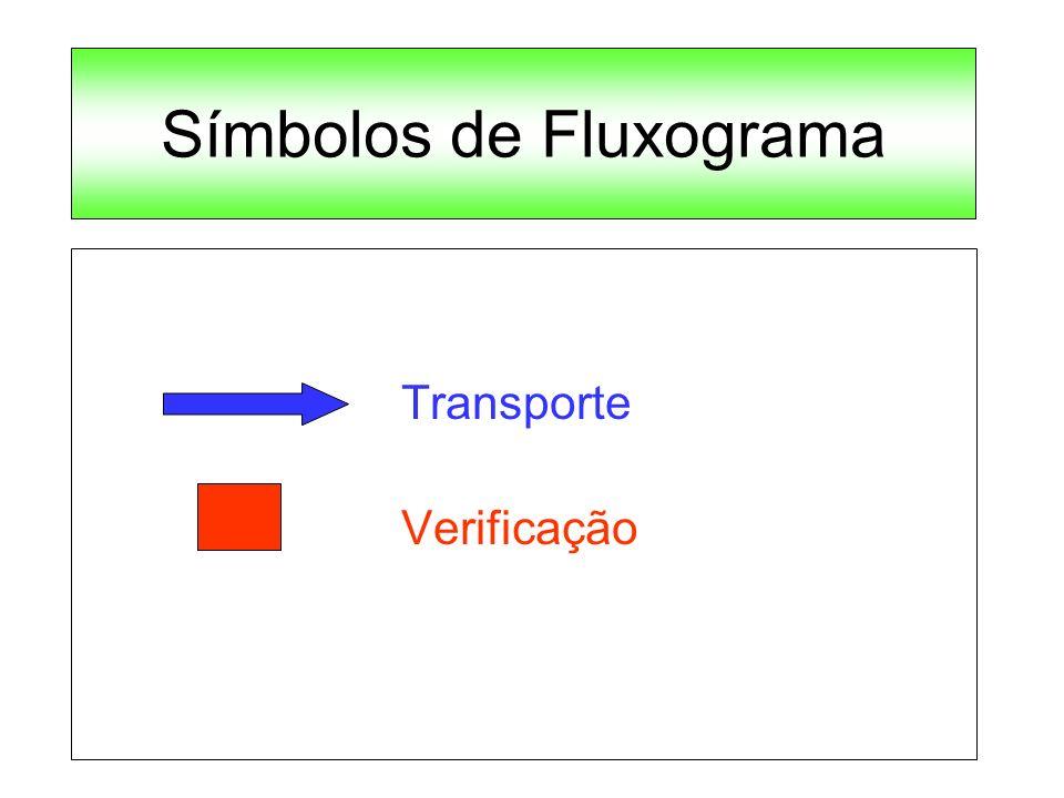 Símbolos de Fluxograma Transporte Verificação