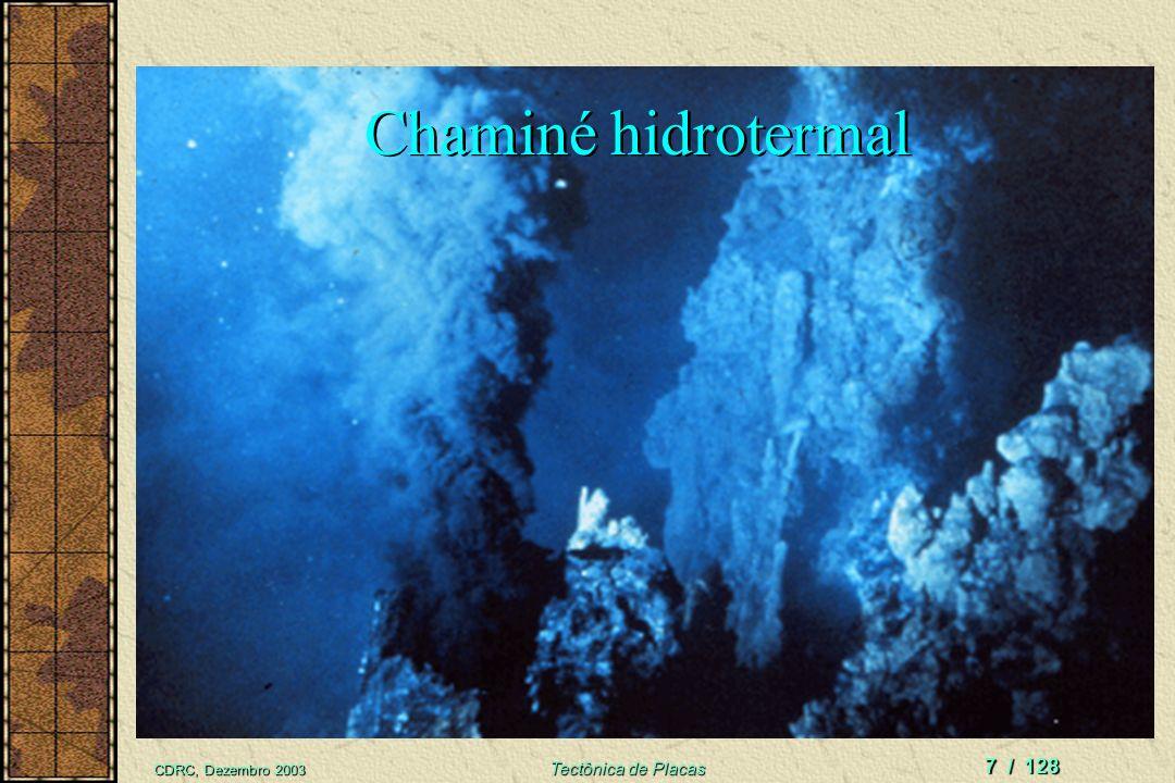 CDRC, Dezembro 2003 Tectônica de Placas 6 / 128 Fontes de informação Sobre o Fundo do Mar Navios oceanográficos Amostragem profunda Levantamentos Sism