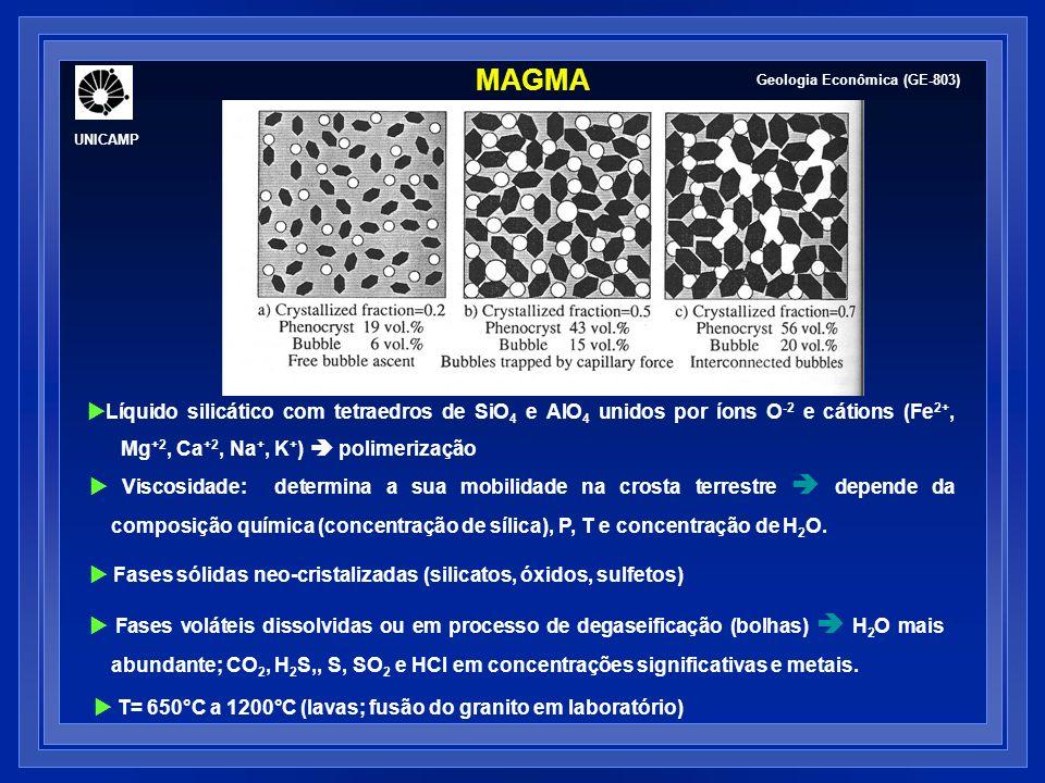 CONCENTRAÇÃO DE METAIS EM ROCHAS ÍGNEAS Geologia Econômica (GE-803) UNICAMP