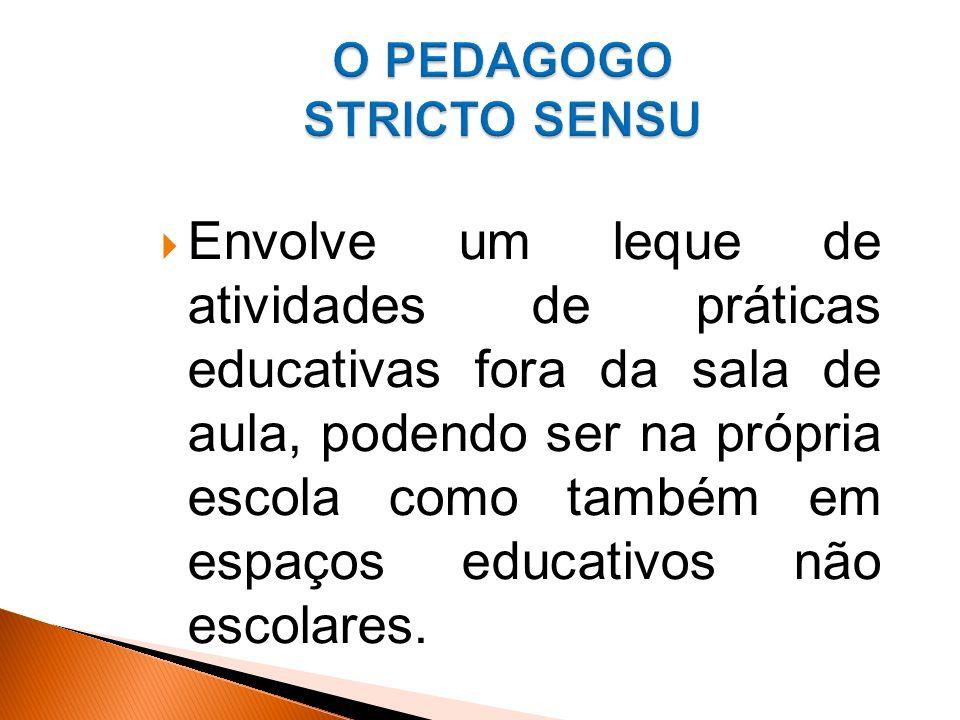 Envolve um leque de atividades de práticas educativas fora da sala de aula, podendo ser na própria escola como também em espaços educativos não escolares.
