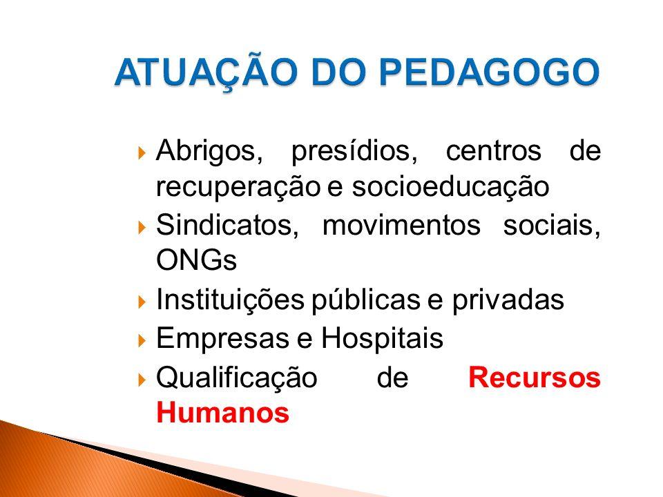 Abrigos, presídios, centros de recuperação e socioeducação Sindicatos, movimentos sociais, ONGs Instituições públicas e privadas Empresas e Hospitais Qualificação de Recursos Humanos