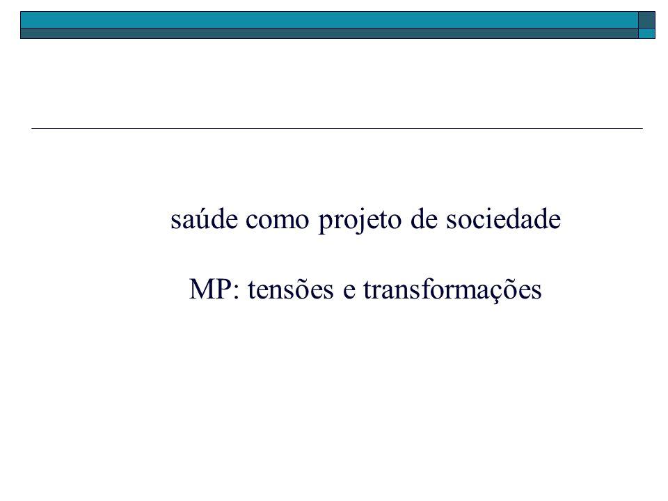 saúde como projeto de sociedade MP: tensões e transformações