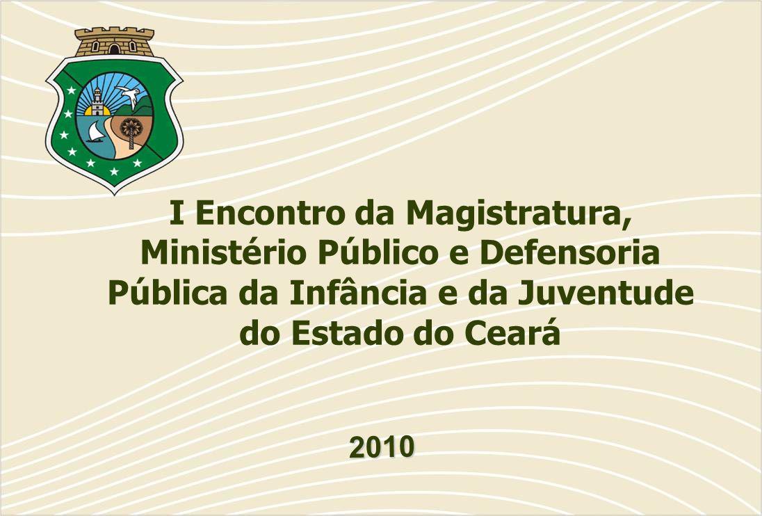 I Encontro da Magistratura, Ministério Público e Defensoria Pública da Infância e da Juventude do Estado do Ceará 2010